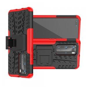 ONYX Противоударный бронированный чехол для Huawei P40 Pro / Huawei P40 Pro Plus - Красный / Черный