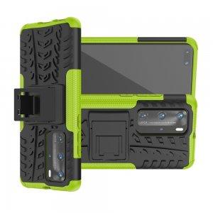 ONYX Противоударный бронированный чехол для Huawei P40 Pro - Зеленый / Черный