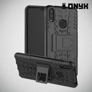 ONYX Противоударный бронированный чехол для Huawei Y7 / Y7 Pro 2019 - Черный