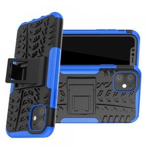 ONYX Противоударный бронированный чехол для iPhone 11 - Синий / Черный