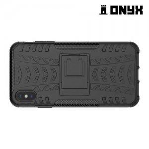 ONYX Противоударный бронированный чехол для iPhone XS Max - Черный