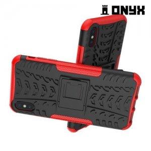 ONYX Противоударный бронированный чехол для iPhone XS Max - Красный