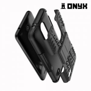 ONYX Противоударный бронированный чехол для LG K8 (2018) / LG K9 - Черный
