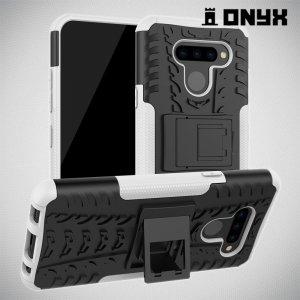 ONYX Противоударный бронированный чехол для LG Q60 - Белый