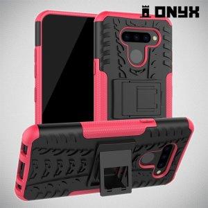 ONYX Противоударный бронированный чехол для LG Q60 - Розовый