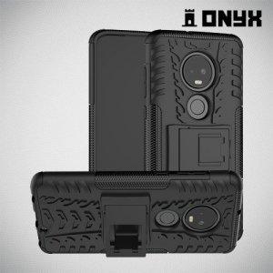 ONYX Противоударный бронированный чехол для Motorola Moto G7 - Черный