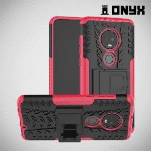 ONYX Противоударный бронированный чехол для Motorola Moto G7 - Розовый