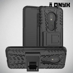 ONYX Противоударный бронированный чехол для Motorola Moto G7 Play - Черный