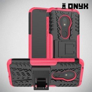 ONYX Противоударный бронированный чехол для Motorola Moto G7 Play - Розовый