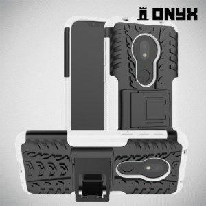 ONYX Противоударный бронированный чехол для Motorola Moto G7 Play - Белый
