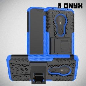 ONYX Противоударный бронированный чехол для Motorola Moto G7 Play - Синий