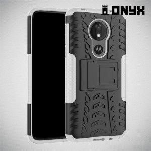 ONYX Противоударный бронированный чехол для Motorola Moto G7 Power - Белый
