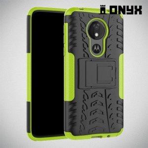 ONYX Противоударный бронированный чехол для Motorola Moto G7 Power - Зеленый