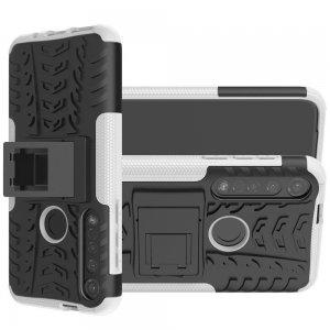 ONYX Противоударный бронированный чехол для Motorola Moto G8 Plus - Белый
