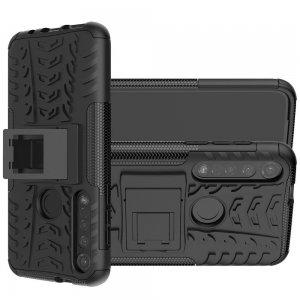 ONYX Противоударный бронированный чехол для Motorola Moto G8 Plus - Черный
