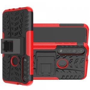 ONYX Противоударный бронированный чехол для Motorola Moto G8 Plus - Красный