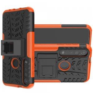 ONYX Противоударный бронированный чехол для Motorola Moto G8 Plus - Оранжевый