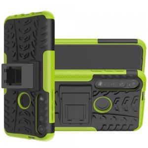 ONYX Противоударный бронированный чехол для Motorola Moto G8 Plus - Зеленый