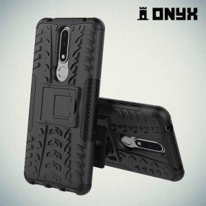 ONYX Противоударный бронированный чехол для Nokia 3.1 Plus - Черный