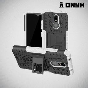 ONYX Противоударный бронированный чехол для Nokia 3.2 - Белый