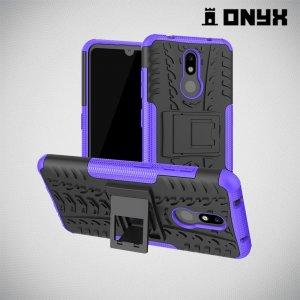 ONYX Противоударный бронированный чехол для Nokia 3.2 - Фиолетовый