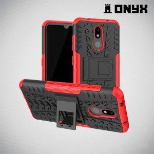 ONYX Противоударный бронированный чехол для Nokia 3.2 - Красный