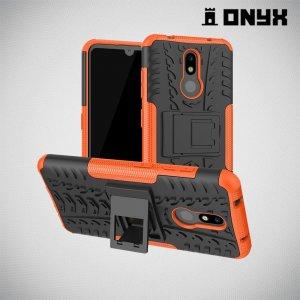 ONYX Противоударный бронированный чехол для Nokia 3.2 - Оранжевый