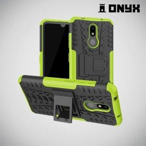 ONYX Противоударный бронированный чехол для Nokia 3.2 - Зеленый