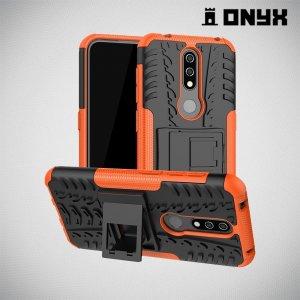 ONYX Противоударный бронированный чехол для Nokia 4.2 - Оранжевый