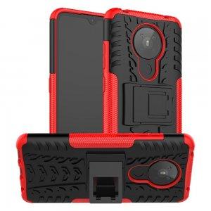 ONYX Противоударный бронированный чехол для Nokia 5.3 - Красный