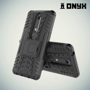 ONYX Противоударный бронированный чехол для Nokia 6.1 - Черный