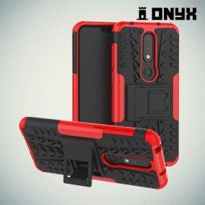 ONYX Противоударный бронированный чехол для Nokia 6.1 Plus / X6 2018 - Красный