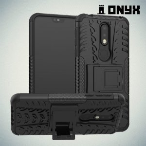 ONYX Противоударный бронированный чехол для Nokia 7.1 - Черный