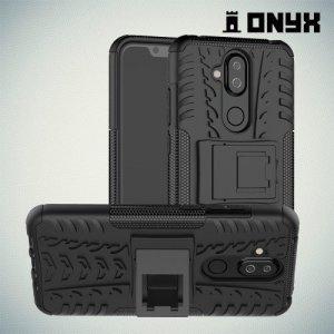 ONYX Противоударный бронированный чехол для Nokia 8.1 - Черный