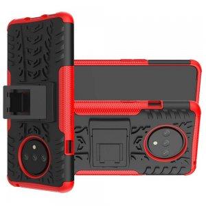 ONYX Противоударный бронированный чехол для OnePlus 7T - Красный