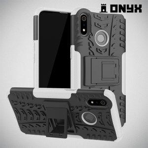 ONYX Противоударный бронированный чехол для Oppo Realme 3 - Белый