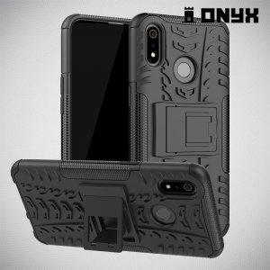 ONYX Противоударный бронированный чехол для Oppo Realme 3 - Черный