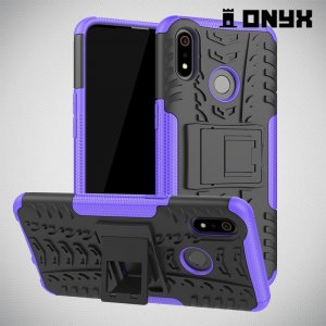 ONYX Противоударный бронированный чехол для Oppo Realme 3 - Фиолетовый