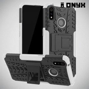 ONYX Противоударный бронированный чехол для Oppo Realme 3 Pro / X Lite - Белый
