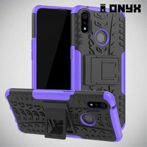 ONYX Противоударный бронированный чехол для Oppo Realme 3 Pro / X Lite - Фиолетовый