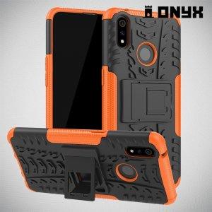 ONYX Противоударный бронированный чехол для Oppo Realme 3 Pro / X Lite - Оранжевый