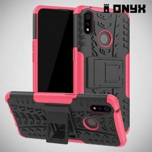 ONYX Противоударный бронированный чехол для Oppo Realme 3 Pro / X Lite - Розовый