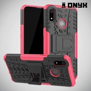ONYX Противоударный бронированный чехол для Oppo Realme 3 - Розовый