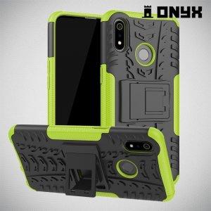 ONYX Противоударный бронированный чехол для Oppo Realme 3 - Зеленый