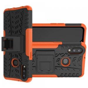 ONYX Противоударный бронированный чехол для Samsung Galaxy A10s - Оранжевый