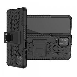 ONYX Противоударный бронированный чехол для Samsung Galaxy A12 - Черный