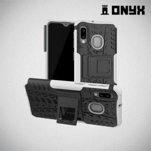 ONYX Противоударный бронированный чехол для Samsung Galaxy A20e - Белый