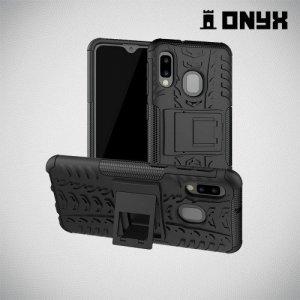 ONYX Противоударный бронированный чехол для Samsung Galaxy A20e - Черный