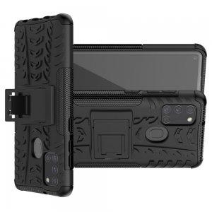 ONYX Противоударный бронированный чехол для Samsung Galaxy A21s - Черный