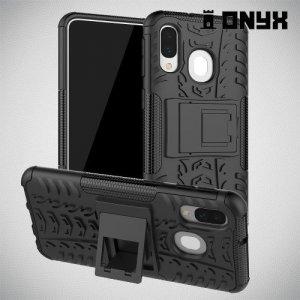 ONYX Противоударный бронированный чехол для Samsung Galaxy A40 - Черный